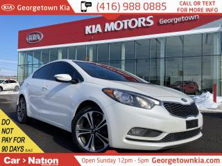 Used 2014 Kia Forte SX|CLN CRFX|LEATHER|NAVI|ROOF|B/UP CAM|ALLOYS for sale in Georgetown, ON