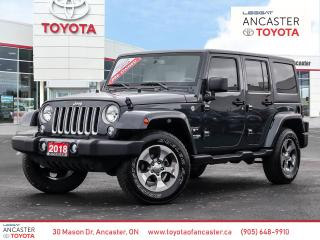Used 2018 Jeep Wrangler Unlimited UNLIMITED SAHARA - 2 TOPS|NAVI|HEATED SEATS|BLUETOOTH for sale in Ancaster, ON