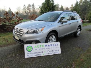 Used 2016 Subaru Outback AWD, CAMERA, B/TOOTH, INSP, BCAA MBSHP, WARR, FINANCE for sale in Surrey, BC