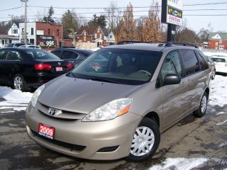 Used 2009 Toyota Sienna LE,8 PASSENGERS,CERTIFIED,ROOF RACK,KEY LESS,FWD for sale in Kitchener, ON