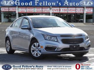 Used 2016 Chevrolet Cruze LT MODEL, REARVIEW CAMERA, KETLESS ENTRY for sale in Toronto, ON