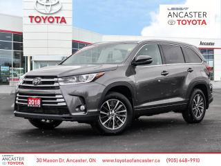 Used 2018 Toyota Highlander XLE - 1 OWNER|BACKUP CAMERA|BLUETOOTH|HEATED SEATS for sale in Ancaster, ON