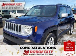 Used 2016 Jeep Renegade Limited   4WD, B/U CAM, AC, HTD. SEATS for sale in Saskatoon, SK