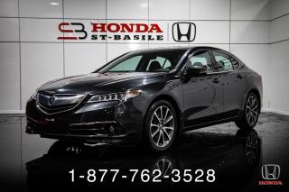 Used 2015 Acura TLX ELITE + V6 + NAVI + CUIR + TOIT + WOW! for sale in St-Basile-le-Grand, QC