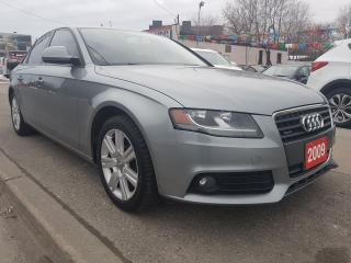 Used 2009 Audi A4 EXTRA CLEAN-162K ONLY-AWD-LEATHER-BLUETOOTH-ALLOYS for sale in Scarborough, ON