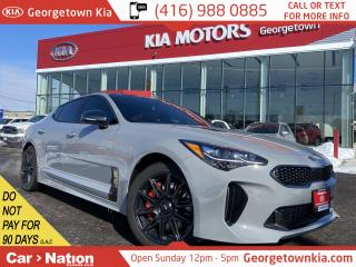 Used 2019 Kia Stinger GT Limited Ghst Grey Red Int Nav HUD 360 CAM BSM for sale in Georgetown, ON
