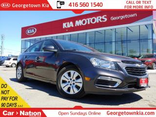 Used 2015 Chevrolet Cruze 1LT | SUNROOF | BACK UP CAM | ONLY 72,099KMS | for sale in Georgetown, ON