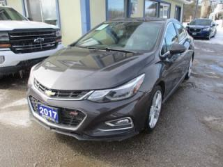 Used 2017 Chevrolet Cruze LOADED PREMIER - RS EDITION 5 PASSENGER 1.4L - TURBO.. NAVIGATION.. LEATHER.. HEATED SEATS.. SUNROOF.. BACK-UP CAMERA.. BOSE AUDIO.. for sale in Bradford, ON