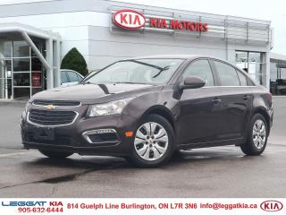 Used 2015 Chevrolet Cruze 1LT, BLUETOOTH, BACKUP CAMERA, CRUISE, ALLOYS, POWER GROUP, HEATED MIRRORS for sale in Burlington, ON