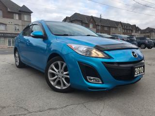Used 2010 Mazda MAZDA3 GT|Navi|Leather|Sunroof|Accident Free|Low Mileage for sale in Burlington, ON