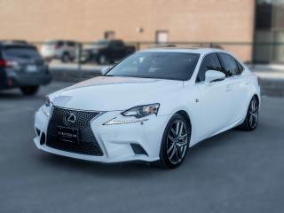 Used 2014 Lexus IS 350 F sport I AWD I NAV I Sunroof I White on Red for sale in Toronto, ON