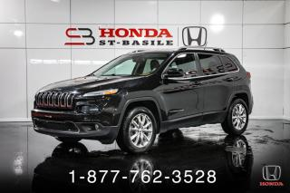 Used 2014 Jeep Cherokee LIMITED + V6 + 4X4 + NAVI + WOW! for sale in St-Basile-le-Grand, QC