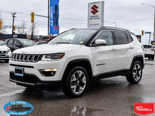 Used 2018 Jeep Compass Limited 4x4 ~Nav ~Cam ~Leather ~Panoramic Roof for sale in Barrie, ON