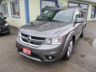 Used 2013 Dodge Journey ALL-WHEEL DRIVE R/T EDITION 7 PASSENGER 3.6L - V6.. BENCH & 3RD ROW.. NAVIGATION.. LEATHER.. HEATED SEATS.. DVD PLAYER.. BACK-UP CAMERA.. BLUETOOTH.. for sale in Bradford, ON