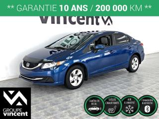 Used 2015 Honda Civic LX ** GARANTIE 10 ANS ** Fiabilité à L'honeur! for sale in Shawinigan, QC