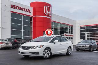 Used 2015 Honda Civic GARANTIE LALLIER MOTO-PROPULSEUR 10ANS/200,000 KIL P4962 BLANC for sale in Terrebonne, QC