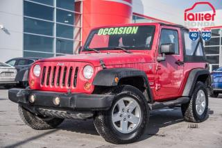 Used 2012 Jeep Wrangler Sport / GARANTIE 1 AN/20,000 KILOS DISPONIBLE 02276A  ROUGE for sale in Terrebonne, QC