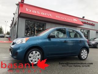 Used 2016 Nissan Micra Manual!! Low KMs, Fuel Efficient!! for sale in Surrey, BC