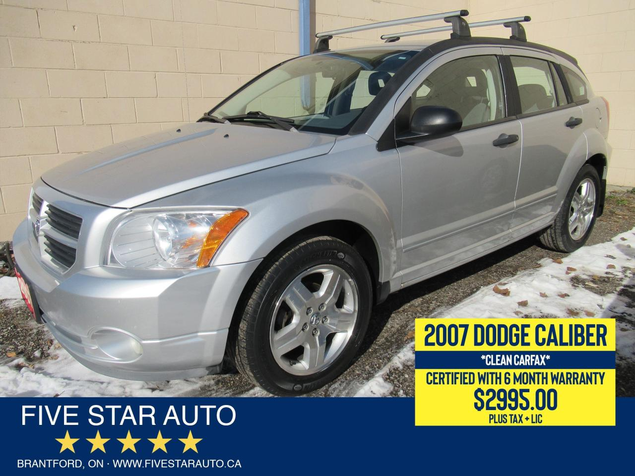 2007 Dodge Caliber SXT *Clean Carfax* Certified w/ 6 Month Warranty