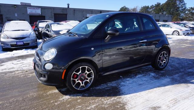 2013 Fiat 500 SPORT 2DR HB CERTIFIED 2YR WARRANTY *FREE ACCIDENT* BLUETOOTH CRUISE HEATED LEATHER FOG LIGHTS