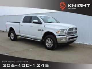 Used 2017 RAM 2500 Laramie Crew Cab 4x4 | 6.7L Cummins | Leather Heated Seats & Steering Wheel | Remote Start for sale in Weyburn, SK