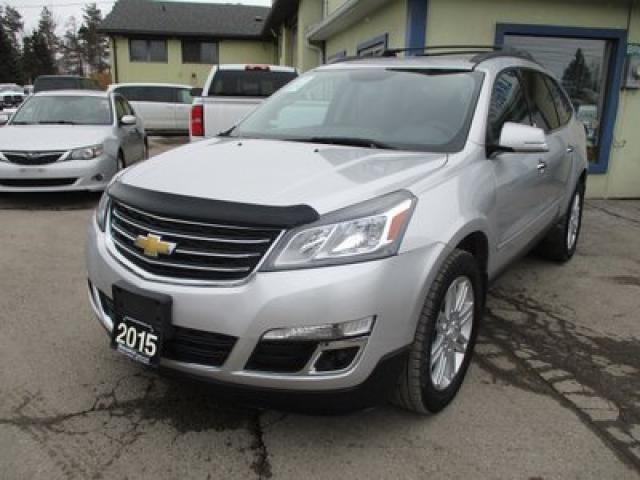 2015 Chevrolet Traverse ALL-WHEEL DRIVE 1-LT EDITION 7 PASSENGER 3.6L - V6.. SLIDING CAPTAINS.. THIRD ROW.. HEATED SEATS.. BACK-UP CAMERA.. BLUETOOTH.. TOUCH SCREEN..