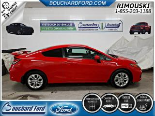 Used 2015 Honda Civic 2 portes, LX BAS KILO for sale in Rimouski, QC