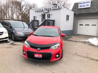 Used 2015 Toyota Corolla 4dr Sdn CVT S for sale in Brampton, ON