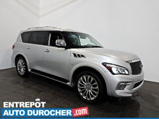 Used 2016 Infiniti QX80 Teck Pack AWD NAVIGATION Toit Ouvrant -7 Passagers for sale in Laval, QC