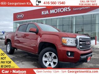 Used 2016 GMC Canyon SLE   CREW CAB   4X4   B/U CAM   V6   BLUETOOTH   for sale in Georgetown, ON
