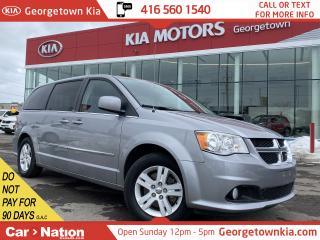 Used 2013 Dodge Grand Caravan Crew | NAVI | LEATHER | PWR DOORS | B/U CAM|LOW KM for sale in Georgetown, ON