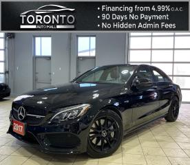 Used 2017 Mercedes-Benz C-Class AMG C43 Sedan Red Leather 360 Cam NAVI AMG RIMS Park Assist for sale in North York, ON