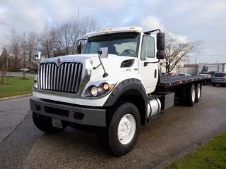 Used 2013 International WorkStar 7600 26 foot Tow Truck Flat  Tilt Deck Dually Diesel With Air Brakes for sale in Burnaby, BC