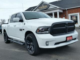 Used 2018 RAM 1500 Sport Night 4x4, Leather Heated/Vented Seats, NAV, Remote Start, Back Up Sensors for sale in Paris, ON