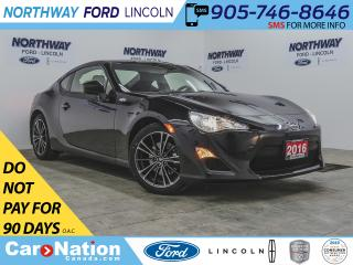 Used 2016 Scion FR-S | 200 HP | 6-SPEED | BACKUP CAM | BLUETOOTH+USB | for sale in Brantford, ON