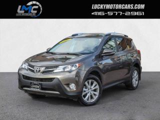 Used 2015 Toyota RAV4 LIMITED AWD-LEATHER-SUNROOF-CAMERA-NAVI-80KMS for sale in Toronto, ON