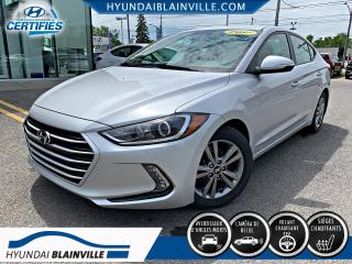 Used 2017 Hyundai Elantra GL, ANDROID AUTO, VOLANT CHAUFFANT, BLUE for sale in Blainville, QC