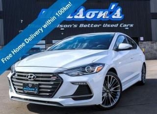 Used 2017 Hyundai Elantra Sport, Leather, Sunroof, Heated Steering + Seats, Rear Camera, Apple CarPlay + Android Auto and more for sale in Guelph, ON