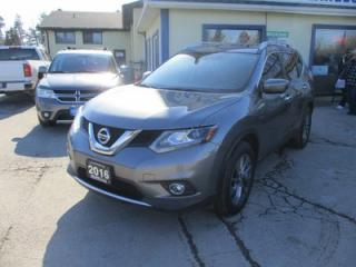 Used 2016 Nissan Rogue ALL-WHEEL DRIVE SL EDITION 5 PASSENGER 2.5L - DOHC.. NAVIGATION.. LEATHER.. HEATED SEATS.. PANORAMIC SUNROOF.. BACK-UP CAMERA.. BLUETOOTH.. for sale in Bradford, ON