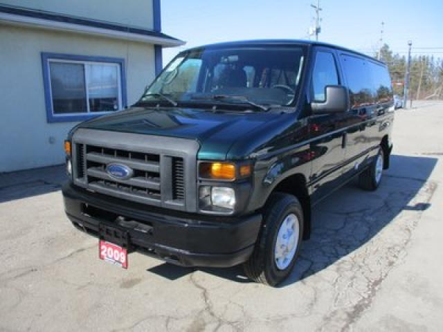 2009 Ford E350 PEOPLE MOVING XLT EDITION 12 PASSENGER 5.4L - V8.. FLEX FUEL.. TOW SUPPORT.. CD/AUX INPUT.. ADVANCE TRAC RSC.. SIDE BARN DOOR ENTRANCE..