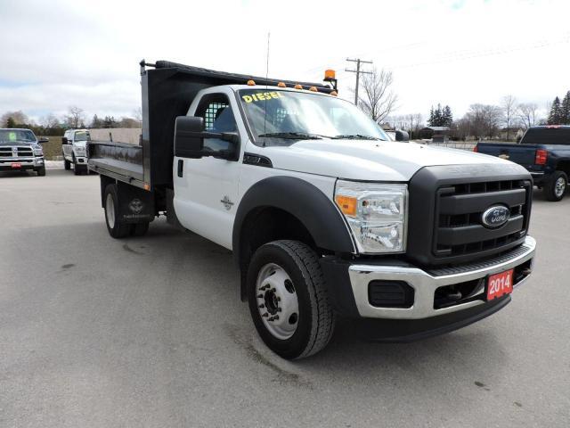 2014 Ford F-550 XL. Diesel. 4X4. 11'6 landscapers dump box
