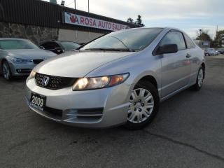 Used 2009 Honda Civic 2DR 5 SPEED MANUAL PM PW  CRUISE CONTROL for sale in Oakville, ON