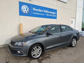 Used 2017 Volkswagen Jetta Sedan 1.8T HIGHLINE W/ TECH PKG - NAVI / LEATHER / SUNROOF for sale in Edmonton, AB