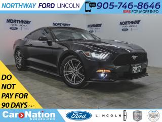 Used 2017 Ford Mustang | 2.3L ECOBOOST | PUSH START | BACKUP CAM | TINT | for sale in Brantford, ON