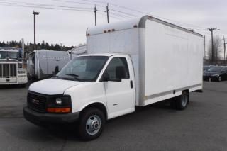 Used 2009 GMC Savana G3500 16 Foot Cube Van Dually Diesel with Ramp for sale in Burnaby, BC