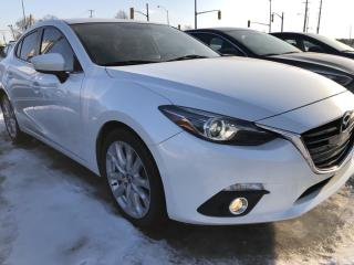 Used 2015 Mazda MAZDA3 GT Wow! Leather and Sunroof with Navigation, Heated Seats and Full Pwr Equipment! for sale in Kemptville, ON