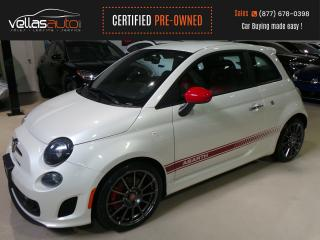 Used 2016 Fiat 500 Abarth PEARL WHITE| RED LEATHER| 5SPD| 31KM for sale in Vaughan, ON