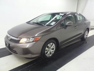 Used 2012 Honda Civic LX    NO Accidents for sale in Waterloo, ON