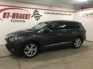Used 2013 Infiniti JX35 AWD, NAVIGATION, CUIR, VOLANT CHAUFFANT for sale in St-Hubert, QC