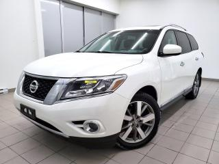Used 2014 Nissan Pathfinder PLATIMUM AWD *7 PLACES* DVD *TOIT PANO* NAV *PROMO for sale in St-Jérôme, QC